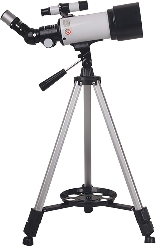 GZP HD 400/70Mm Telescopio Astronomico para Niños Principiantes Adultos, Telescopio Refractor con Ajustable Trípode/Buscador,para Observar La Luna,Observar Aves,Ver El Observar Los Animales