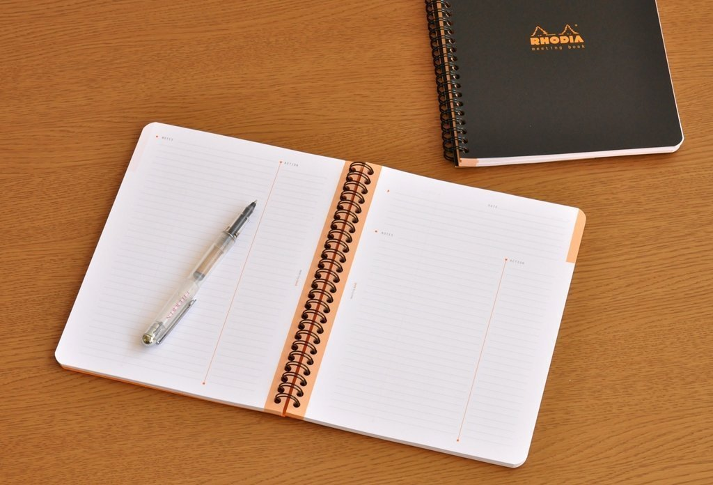Rhodia Meeting Books 6.3'' X 8.3'' White 80 Sheets, Pack of 5