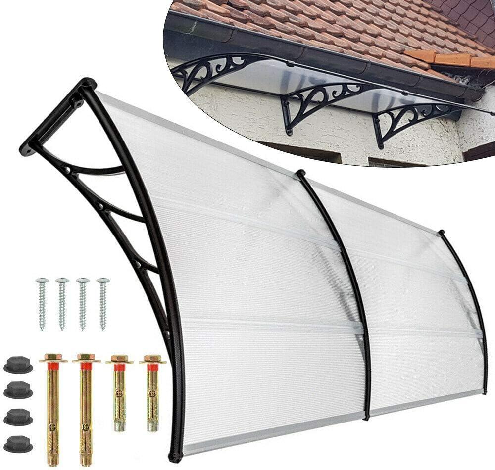 Marquesina de aluminio de 120 cm para terraza exterior