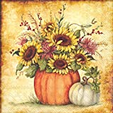 Ideal Home Range L722200 20 Count Fall Scenery Paper Luncheon Napkins, Multicolor