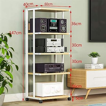 Estanterías para CD DVD Rack de audio Estante de almacenamiento de DVD, Amplificador de altavoz multifunción