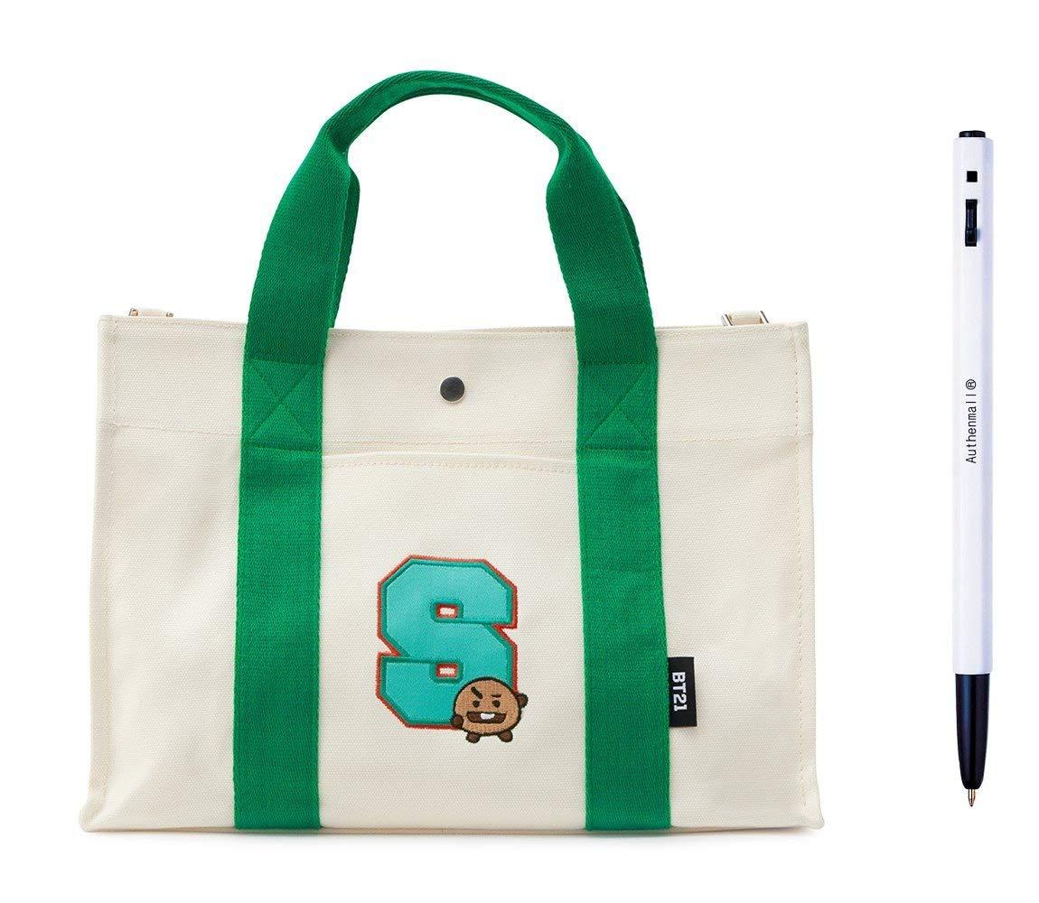 cec40fec9cf Amazon.com: BT21 Canvas Crossbody Bag SHOOKY Cross Bag, Shoulder Bag ...