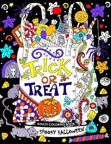 (Adults Coloring Book: Spooky Halloween Fun and Relaxing)