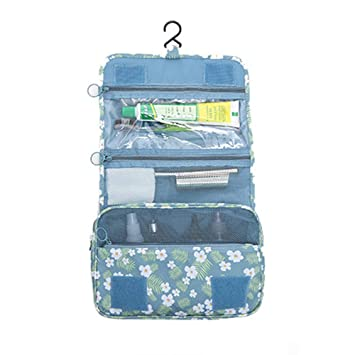 1d32b53a9c25 IFUNLE Portable Multi-function Makeup Cosmetic Bag Floral Print Waterproof  Toiletry Travel Kit Wash...