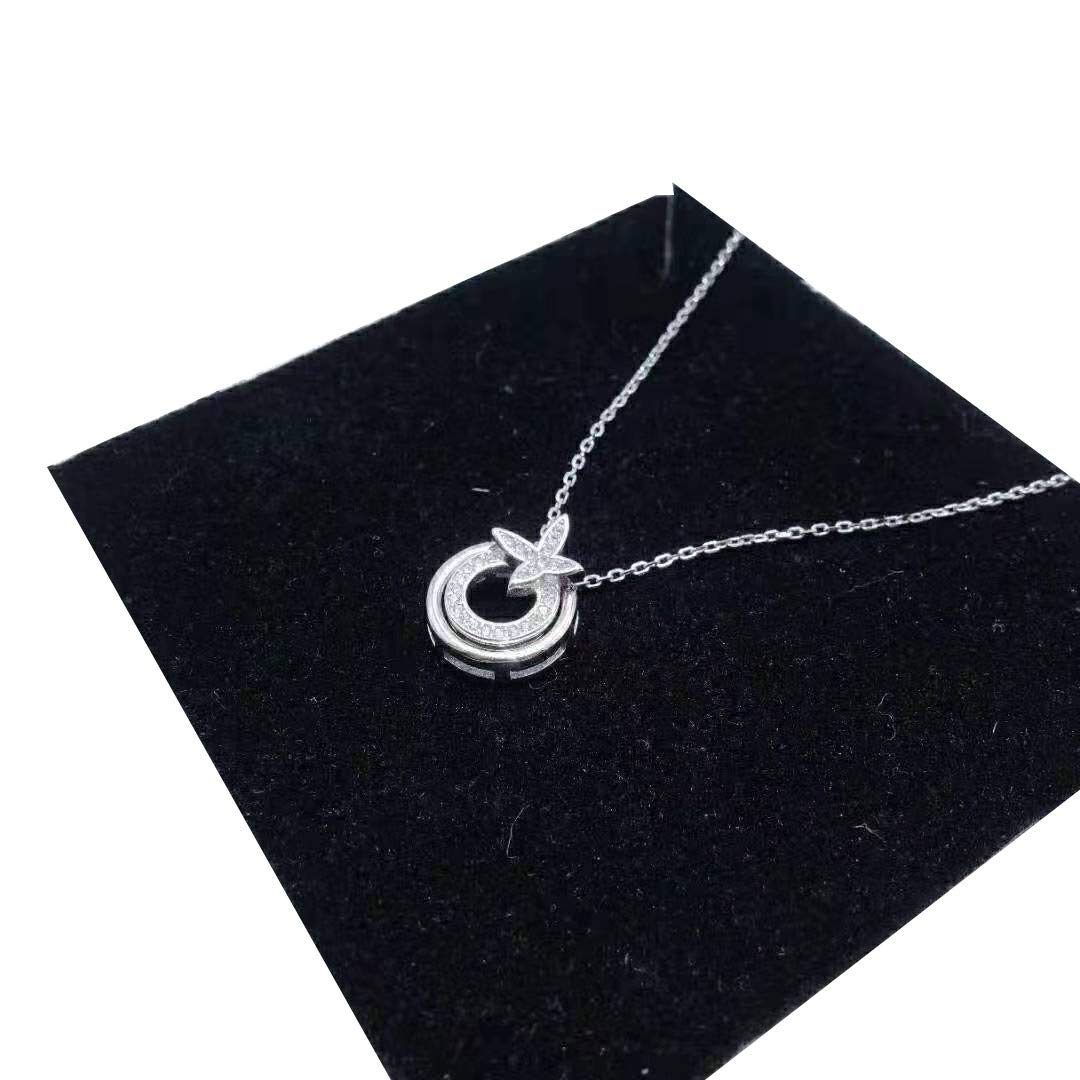 WandT S925 Simple Fashion Necklace Young Lady Girl Birthday