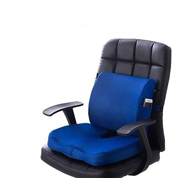 Los cojines del asiento de espuma de memoria y el apoyo lumbar brindan alivio para el