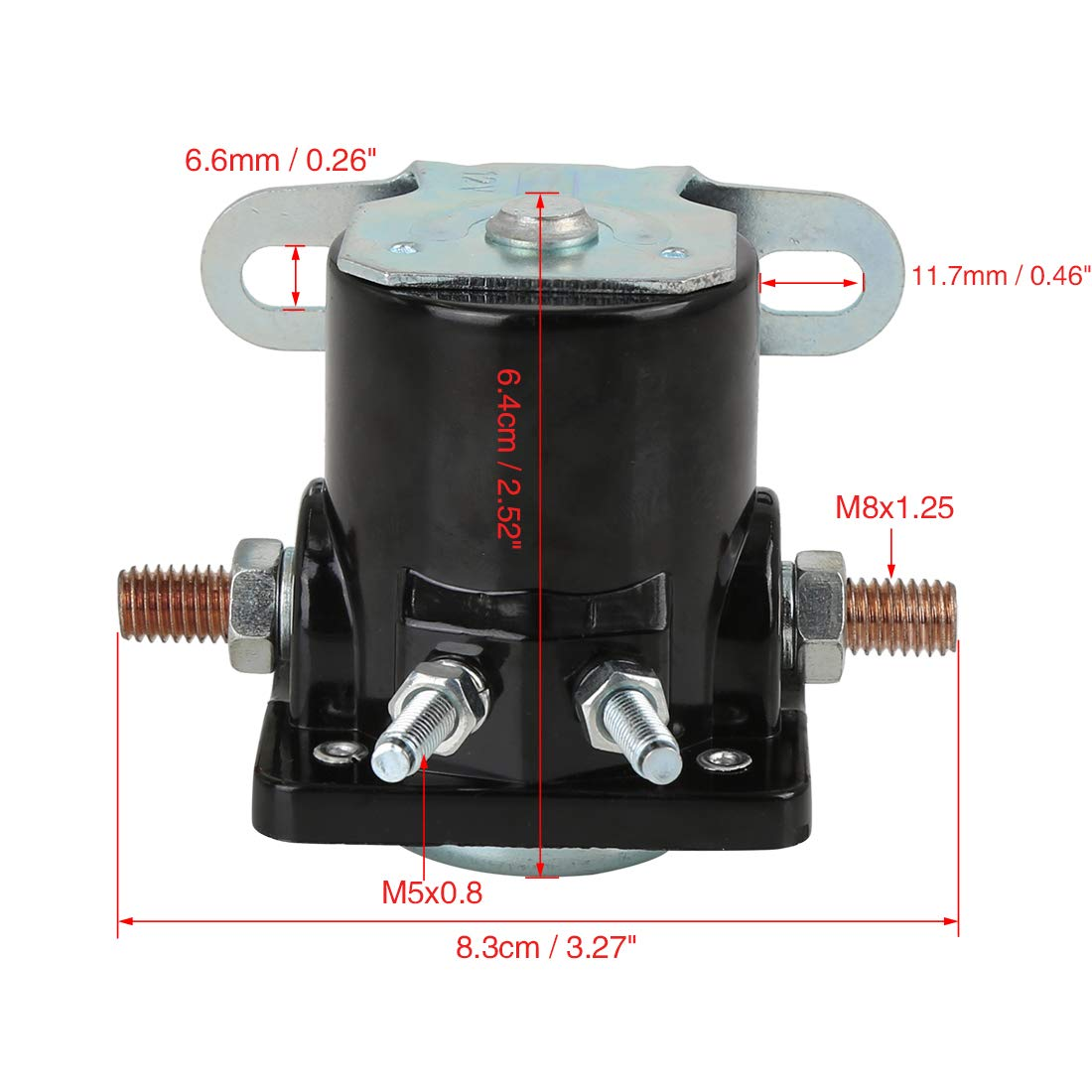 X AUTOHAUX Starter Relay Solenoid Switch for 1976-1987 Jeep Cherokee