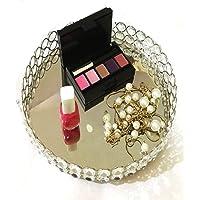 Marigold Stores - Bandeja decorativa redonda de cristal