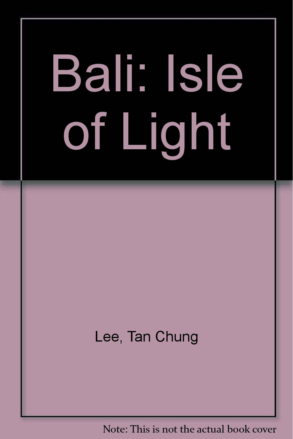 Bali Isle Of Light Hardcover Import 2006