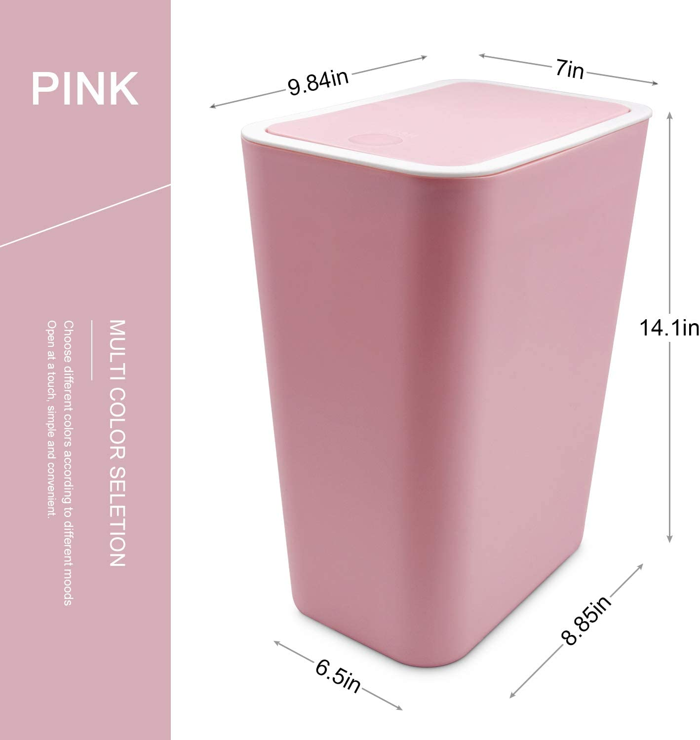 Heavy Duty Round Trash Garbage Can Waste Holder Can Home Garbage Multicolor