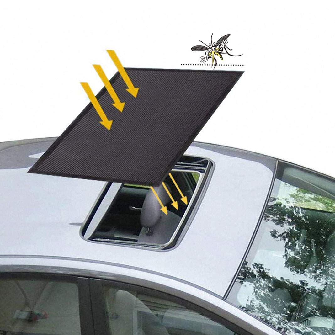 Car Sunroof Sunshade, Sunroof Sun Shade Universal Car Roof Cover with Magnetic Breathable Mesh for Anti Mosquito Screens UV Protection, All Years (21.6 x 37.4 inches) by Rosa Schleife