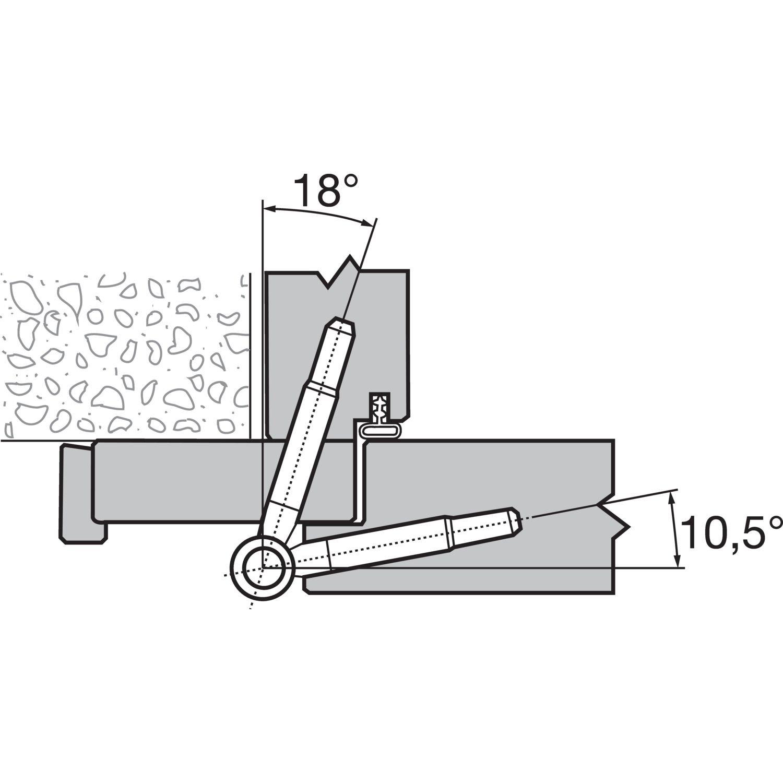 2 St/ück Gedotec T/ürb/änder Zimmert/üren Renovierb/änder 2-teilig Einbohrb/änder f/ür gef/älzte Holzt/üren Baubeschl/äge Tragkraft bis 40 kg /ø 16 mm Metall schwarz br/üniert Gr