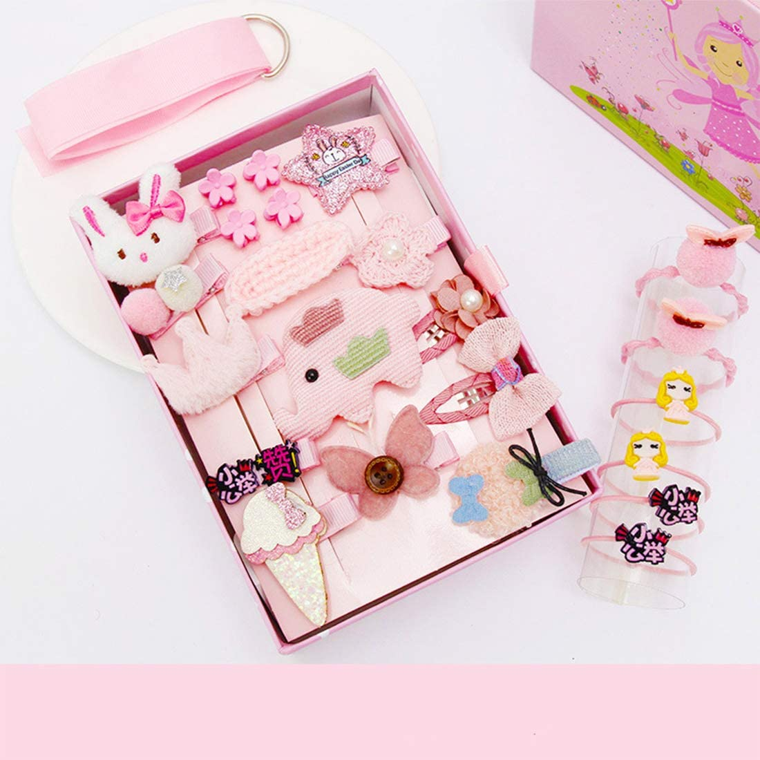 Snow & Sunny 24Pcs Gift Set Hair Accessories Hair Clips Bows Ties £3.99 w/code NICECLIP @ Amazon