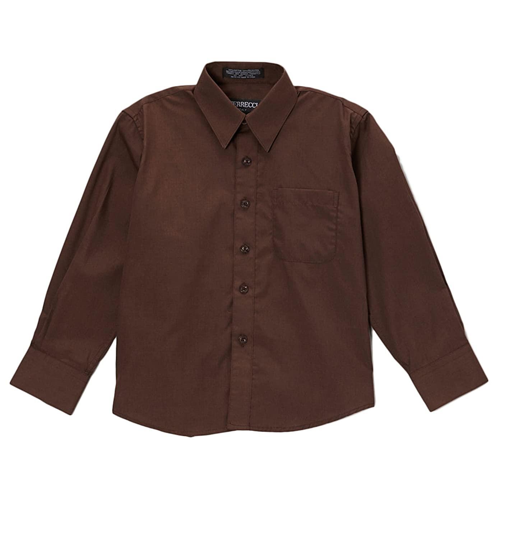 Ferrecci Boys Premium Poly Cotton Dress Shirt - MANY COLORS BOYSHIRT