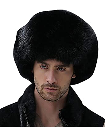 6dfd6e13d Celino Men's Real Fox Fur Gentle Fluffy Extra Warm Adjustable ...