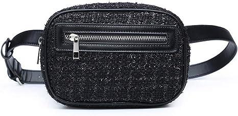 OKMPL Riñonera Mujeres Nuevo Algodón Bolsas De Cintura Mini Bolsa De Teléfono Portátil Bolso De Cinturón Bolso Cremallera Bolsos De Pecho Bolsa: Amazon.es: Deportes y aire libre