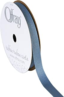 "product image for Offray 65433 3/8"" Wide Grosgrain Ribbon, 3/8 Inch x 18 Feet, Antique Blue"