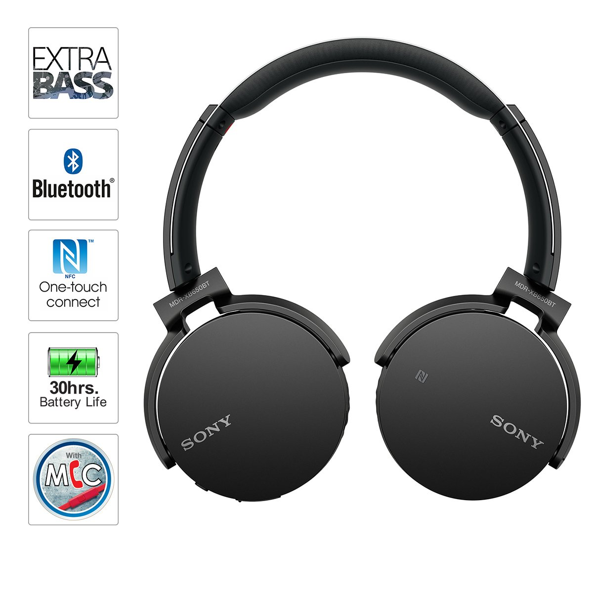 Zip Up Headphones Amazoncom Sony Mdrxb650bt B Extra Bass Bluetooth Headphones