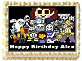 Undertale Personalized Edible Cake Topper Image -- 1/4 Sheet
