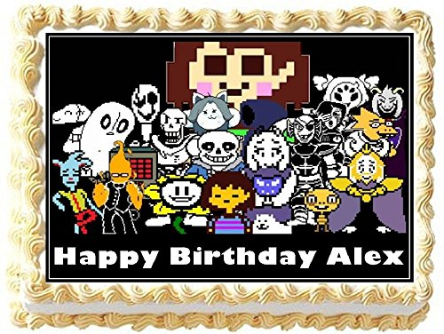 Undertale Personalized Edible Cake Topper Image -- 1/4 Sheet by Edible Topper Designs
