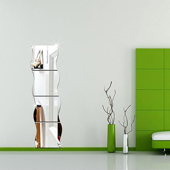 GLOGLOW 9 Pi/èces Miroir Stickers Muraux en Plastique Carreaux Miroir Autocollants Carr/és 6 Pouces par 6 Pouces Non Verre Miroir Autocollants Miroir Stickers pour Maison D/écor /À La Maison