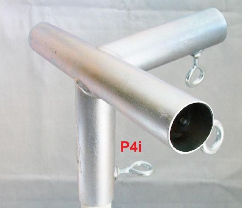Golden Valley Tools & Tarps 4 way EDGE LOW PEAK UP ANGLE CANOPY FITTING (P4IB) ~ 1'' Pipe
