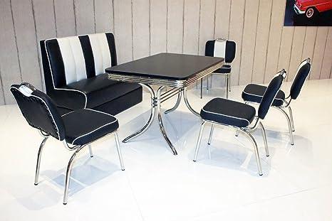 Distanza Panca Da Tavolo : Panca di seduta di gruppo american diner vegas king6 6tlg in nero
