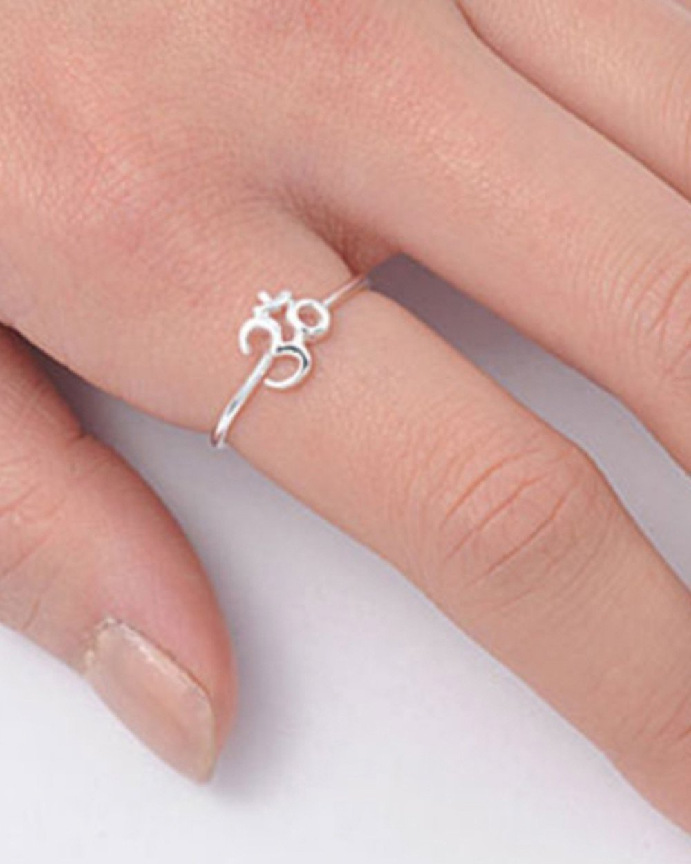 Amazon.com: SIVALYA Om Ohm Aum Ring 925 Sterling Silver, Size 6 ...