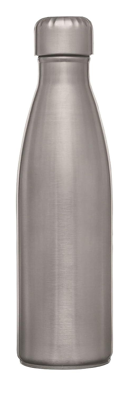 Signoraware Cola Single Wall Fridge Water Bottle Matt Finish, 1 Liter, Silver