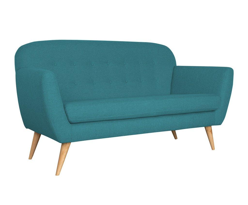 SLAAP Sofa & Chaise - Sofá Estilo Vintage Color Turquesa. Medidas: 162X81X87cm