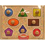 MELISSA & DOUG FIRST SHAPES JUMBO KNOB PUZZLE (Set of 6)