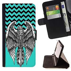 Dragon Case - FOR Samsung Galaxy S5 V SM-G900 - No cross no crown - Caja de la carpeta del caso en folio de cuero del tir¨®n de la cubierta protectora Shell