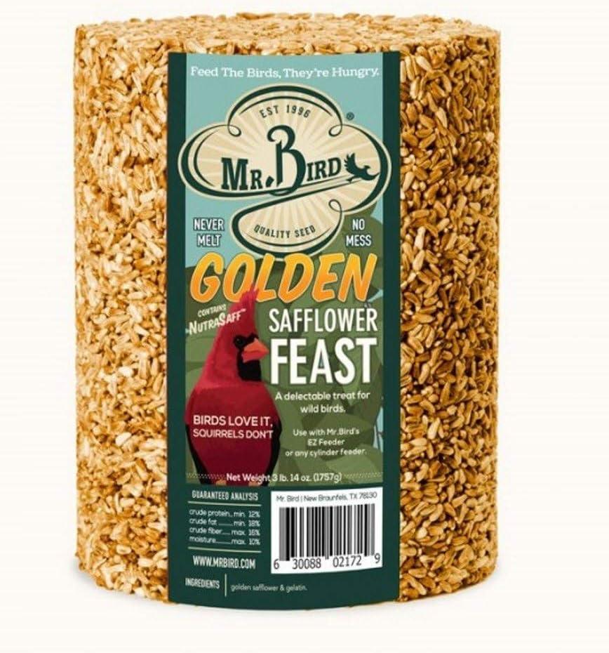 Mr. Bird Golden Safflower Cylinder Large Seed Cylinder 62 oz.