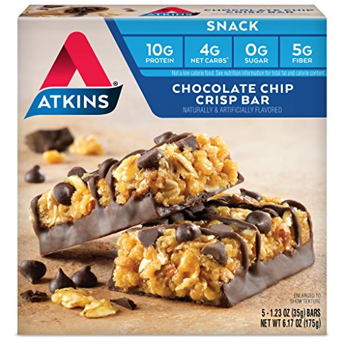 Atkins Snack Bar, Chocolate Chip Crisp, 5 Count