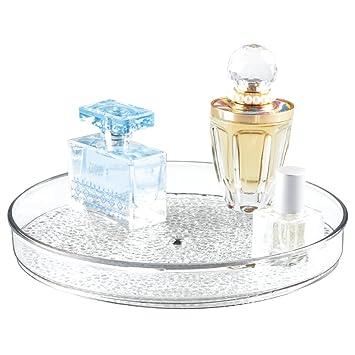 Rangement Rotatif De Cosmetiques MDesign Lazy Susan Pour Meuble Salle Bain