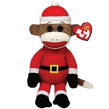Amazon.com  Ty Beanie Babies Sock Monkey - Santa  Toys   Games 1c9c8b0b42b