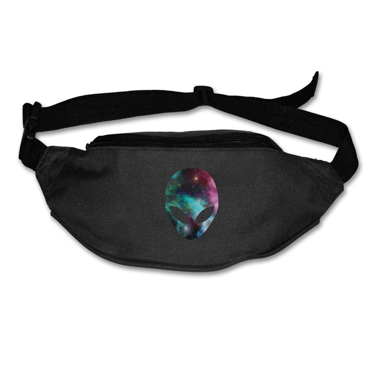 Space Alien Head Colorful Sport Waist Bag Fanny Pack Adjustable For Travel