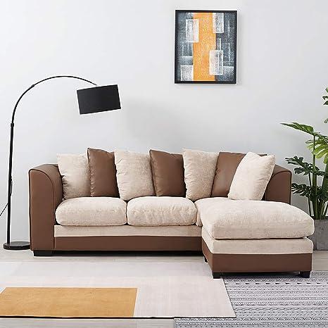 Anaelle Panana sofá de Esquina Sofa Moderno de Oruga + Piel ...