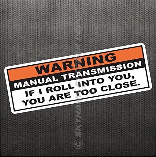 Warning Funny Vinyl Decal Bumper Sticker For JDM Manual Transmission Stick Shift Car Truck Hatchback