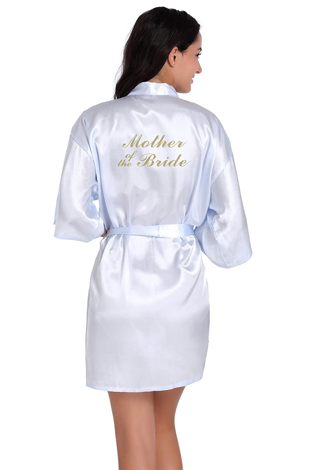 Honeystore Women's Wedding Party Robe with Embroidered Mother of the Bride HSY1712C9