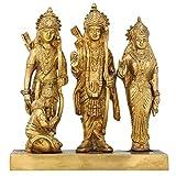 Durbar of Rama Sita Lakshman and Hanuman Hindu Puja Statue Brass 8 Inch