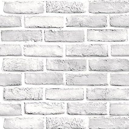 Haokhome 61022s Papel Pintado 3d Blanco Retro Para La Decoracion De