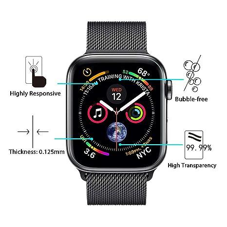 iVoler 8 Unidades Protector de Pantalla para Apple Watch 44mm / 42mm (Series 4/3/2/1 Compatible), [Cobertura Completa] [líquida Instalar] [No Burbujas] HD ...