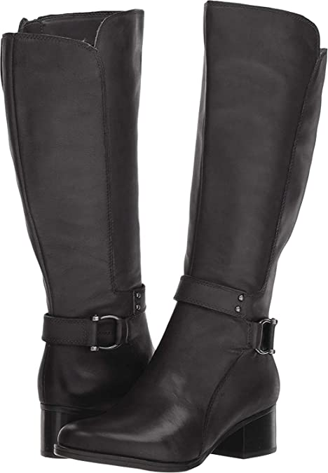 new lower prices coupon code san francisco Amazon.com | Naturalizer Womens Dane Leather Wide Calf Riding ...