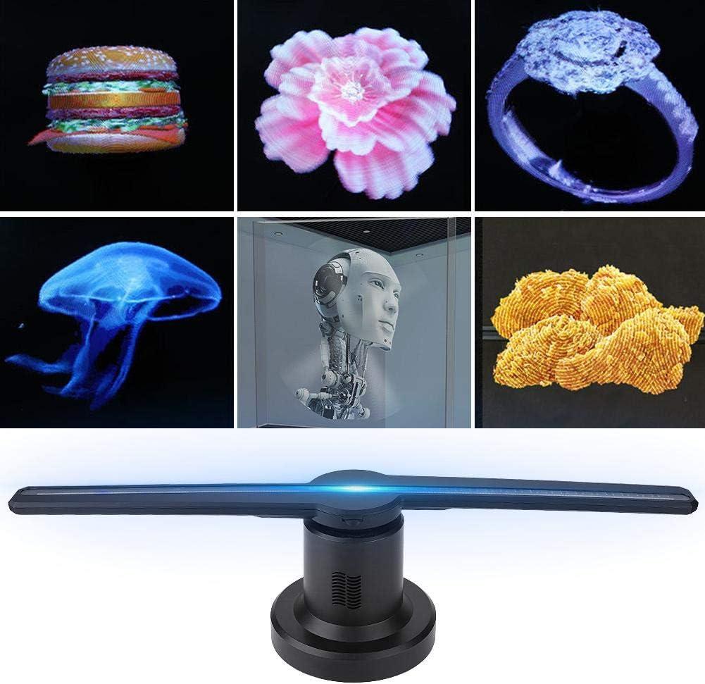 Ventilador holográfico 3D, LED Proyector de Publicidad publicitaria con Reproductor de Holograma 3D WiFi con Tarjeta TF de 16 GB, para Carteles, exposiciones, ferias comerciales, Di
