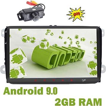 doble Din GPS estéreo 9 pulgadas,sistema Android 9.0,2GB RAM 16GB ...
