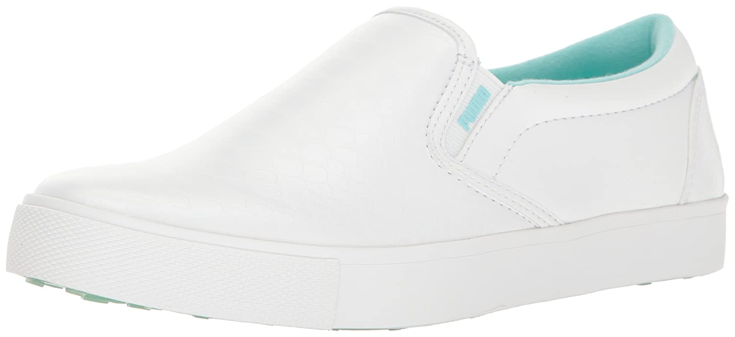 PUMA Women's Tustin Slip-on Golf-Shoes B01MXGPKU0 9 B(M) US|Puma White-aruba Blue
