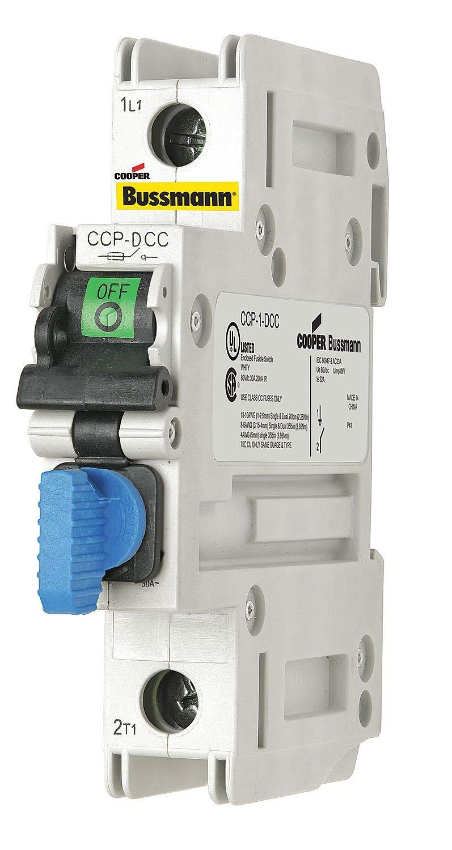 Cooper Bussmann CCP-1-DCC Class CC DC Fuse 1 Pole Compact Circuit Protector