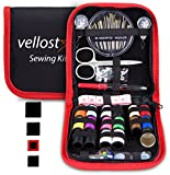#10: SEWING KIT, Tackle any Fashion Emergency - Clothing Repairs at Home & in the Office. Highly-Rated Mini Sew Kit for Travel Trips. Mending Supplies & Accessories (Black&Red-Trim, Pack of 1)