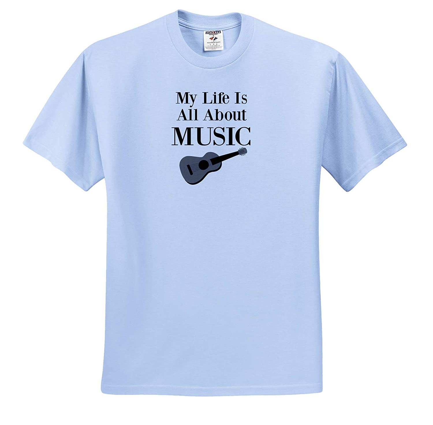 ts/_320201 3dRose Carrie Quote Image Adult T-Shirt XL Image of My Life is All About Music